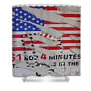1 Dollar For Four Minutes Sign Telephone American Flag Eloy Arizona 2005 Shower Curtain