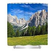Dolomites - Catinaccio Mount Shower Curtain