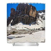 Dolomites - Pisciadu Peak Shower Curtain