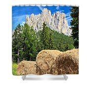 Dolomiti - Alpine Pasture Shower Curtain