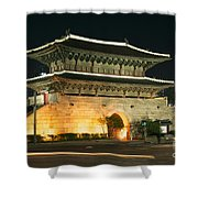 Dongdaemun Gate Landmark In Seoul South Korea Shower Curtain