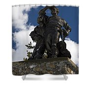 Donner Party Monument  Shower Curtain