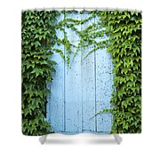Door Framed By Plants Shower Curtain