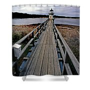 Doubling Point Lighthouse Shower Curtain