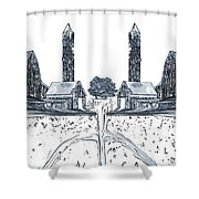 Down On The Farm Shower Curtain by Dan Sproul