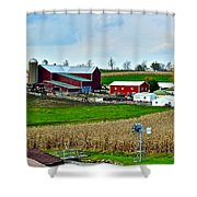 Down On The Farm Shower Curtain by Frozen in Time Fine Art Photography
