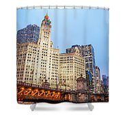 Downtown Chicago View Shower Curtain