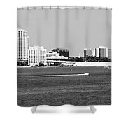 Downtown Clearwater Skyline Shower Curtain
