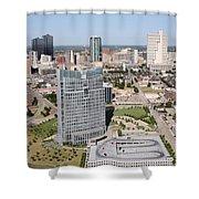 Downtown Fort Worth Skyline Shower Curtain