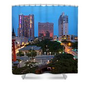Downtown San Antonio Texas Skyline Shower Curtain