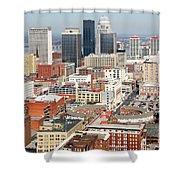 Downtown Skyline Of Louisville Kentucky Shower Curtain