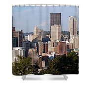 Downtown Skyline Of Pittsburgh Pennsylvania Shower Curtain