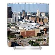 Downtown Skyline Of St. Paul Minnesota Shower Curtain