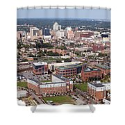 Downtown Skyline Of Wilmington Shower Curtain