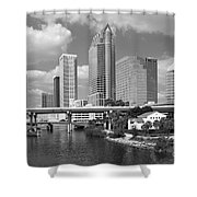 Downtown Tampa Skyline From Davis Islands Shower Curtain