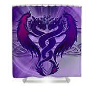 Dragon Duel Series 4 Shower Curtain