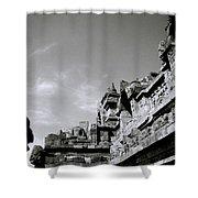 Dramatic Borobudur Shower Curtain
