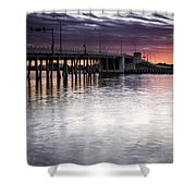 Drawbridge At Sunset Shower Curtain