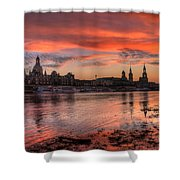 Dresden Sunset Shower Curtain
