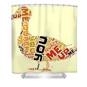 Duck Humor Shower Curtain
