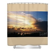 Sunset At Ducks Puddle, Bermuda Shower Curtain