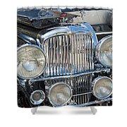 Duesenberg Front Chrome Automobile Grille Shower Curtain