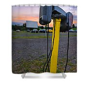 Dusk At The Drive In Movie Shower Curtain