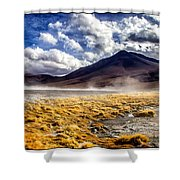 Dusty Desert Road Bolivia Shower Curtain