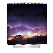 Dying Storm Cells With Fantastic Lightning Shower Curtain