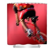Dynamic Racing Cycle Shower Curtain