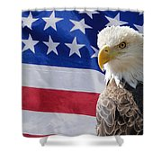 Eagle And Flag Shower Curtain