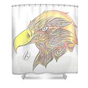 Eagle Head Shower Curtain