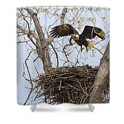Eagle Nest Shower Curtain
