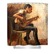 Eakins' Study For Negro Boy Dancing -- The Banjo Player Shower Curtain