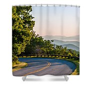 Early Morning Sunrise Over Blue Ridge Mountains Shower Curtain