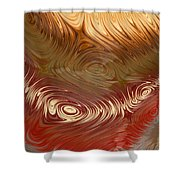 Earth Tones Shower Curtain by Heidi Smith