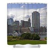 East Boston Harbor Shower Curtain
