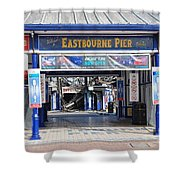 Eastbourne Pier Fire July 2014 Shower Curtain