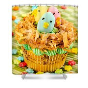 Easter Cupcakes  Shower Curtain