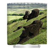 Easter Island 17 Shower Curtain