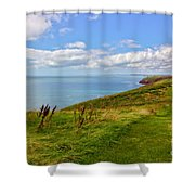 Edge Of The World Shower Curtain by Jeremy Hayden