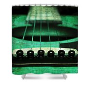Edgy Abstract Eclectic Guitar 15 Shower Curtain by Andee Design