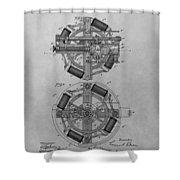Edison's Phonograph Patent Shower Curtain