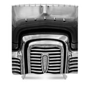 Edsel Corsair Grille Emblem Shower Curtain