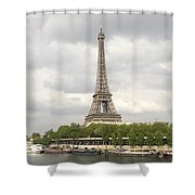Eiffel Tower And The Seine Shower Curtain