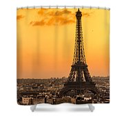 Eiffel Tower At Sunrise - Paris Shower Curtain