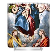 El Greco's Madonna And Child With Saint Martina And Saint Agnes Shower Curtain