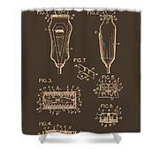Electric Razor Patent 1940 Shower Curtain
