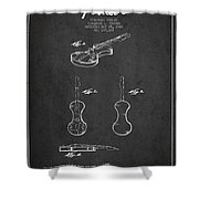Electric Violin Patent Drawing From 1960 Shower Curtain