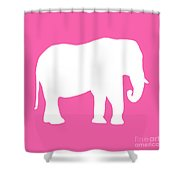 Elephant In Pink And White Shower Curtain